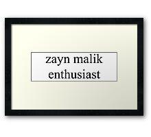 zayn malik enthusiast Framed Print