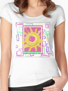 Summer graphic print Women's Fitted Scoop T-Shirt