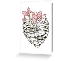 Ribcage Heart  Greeting Card