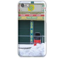 Seaside Heights snow covered Midway Steak House iPhone Case/Skin