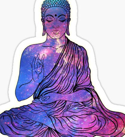 Space Buddha Dictionary Art Sticker