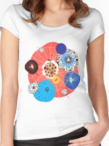 Abstract fantasy pattern Women's Fitted Scoop T-Shirt