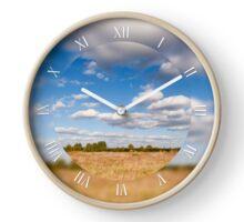 Sky cloudscape rural landscape Clock