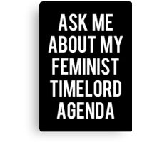 FEMALE TIMELORD Canvas Print