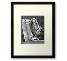 Moses and the Ten Commandments Framed Print
