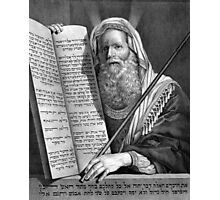 Moses and the Ten Commandments Photographic Print