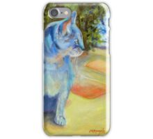Le Chat Bleu (The Blue Cat) by Chris Brandley iPhone Case/Skin