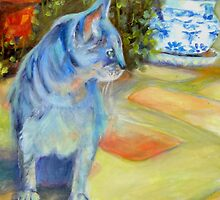 Le Chat Bleu (The Blue Cat) by Chris Brandley by ChrisBrandley