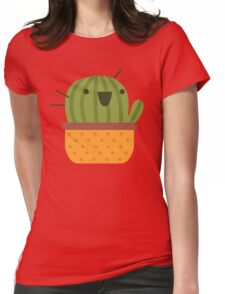 Happy Cactus Womens Fitted T-Shirt