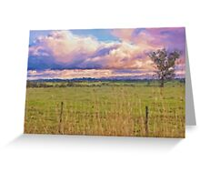 Rural Landscape (Redesdale, Victoria) Greeting Card