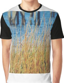 Grass Near Water and Dock Graphic T-Shirt