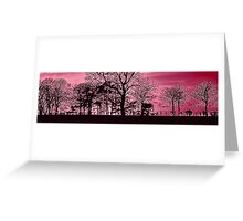 Silhouetted Shenanigans Deep Purple Greeting Card