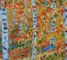 Strolling through the Aspens, Impressionism, wall art, home decor Sticker