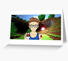 Joey Graceffa (FairyTail, Pokemon and Minecraft Poster) Greeting Card