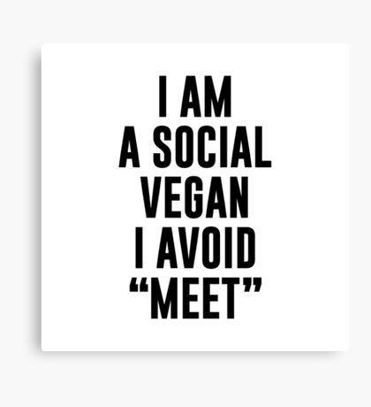 Social Vegan Canvas Print