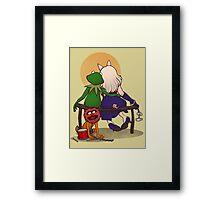 Puppet's love Framed Print