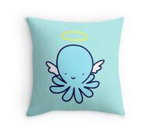 Angel Octopus Throw Pillow