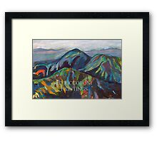 San Diego California Mountains Picture Framed Print
