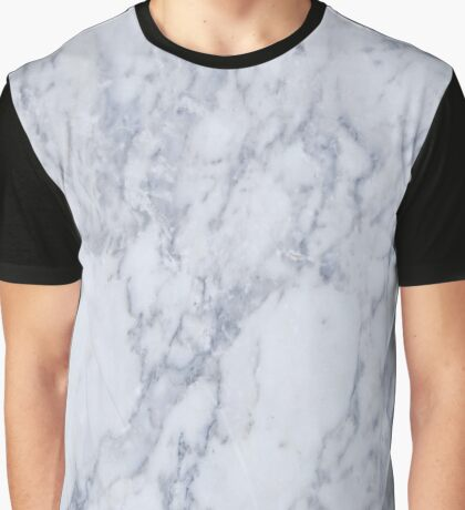 White And Gray Marble Stone Pattern Graphic T-Shirt