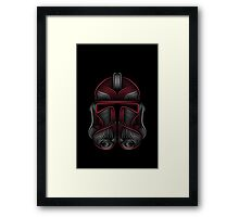 Clone Trooper red Framed Print