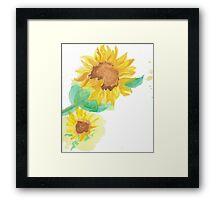 Sunflower Spray Framed Print