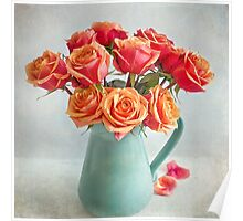 A very beautiful rose bouquet Poster