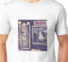 Pawn Shop Door Acrylic Painting Unisex T-Shirt