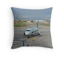 Modern Airliner Throw Pillow