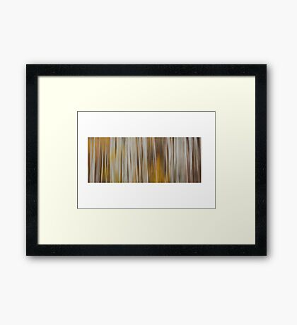 Abstract aspen fall Framed Print