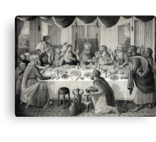 Jesus Christ and the Last Supper Canvas Print
