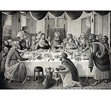 Jesus Christ and the Last Supper Photographic Print