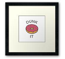Dunk It Framed Print