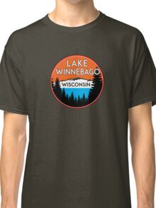 LAKE WINNEBAGO WISCONSIN BOATING JET SKI BOAT WINDSURFING KITE SURFING ICE RACING Classic T-Shirt