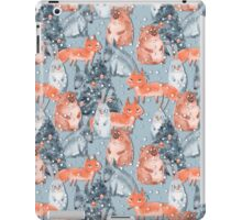 Holiday pattern with animals 5 iPad Case/Skin
