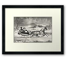Sleigh Ride in a Winter Wonderland Framed Print