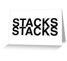 Stacks on Stacks Greeting Card