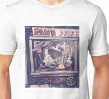 Pawn Shop Window Acrylic Painting Unisex T-Shirt