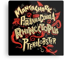 SyFy Monster Movie Mash Halloween Metal Print