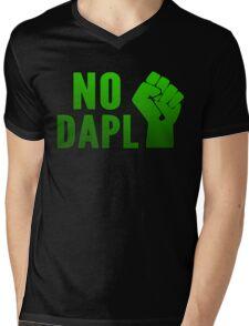 No DAPL!  Stop the Pipeline. Mens V-Neck T-Shirt