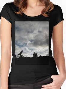 skies edge  Women's Fitted Scoop T-Shirt
