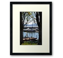 Boats in the harbour Framed Print