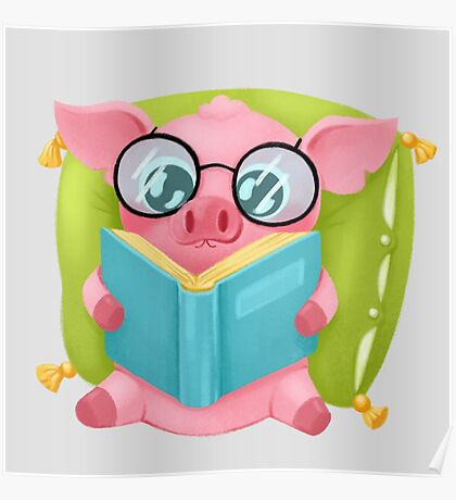 Molly the Micro Pig - Cute Reader Poster