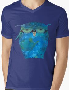 Angry Owl Mens V-Neck T-Shirt