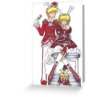 King and Queen of Hearts Greeting Card