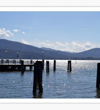 Pillars in Lake Trasimeno Sticker