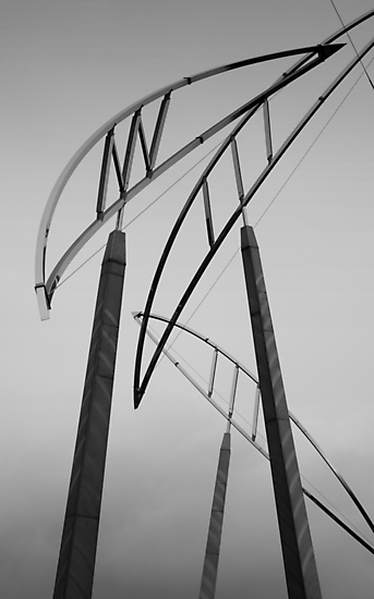 Christchurch Art Gallery- Poles by Ben Loveday