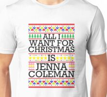 All I Want For Christmas is Jenna Coleman - White Spangle Unisex T-Shirt