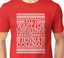 All I Want For Christmas is Jenna Coleman - Red Scandi Unisex T-Shirt