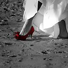 *Red Bridal Shoe* by Darlene Lankford Honeycutt