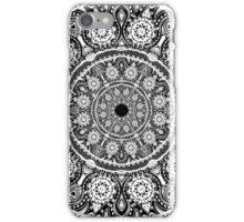 White on Black  Lace Mandala iPhone Case/Skin